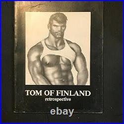 Rare Tom of Finland retrospective paperback book large 1st edition SIGNED