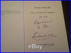 Rare first edition signed Bobby Moore biography