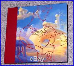 Raredisney The Art Of Hercules 1st Edition Art Book Signed By 16 Artists-wow