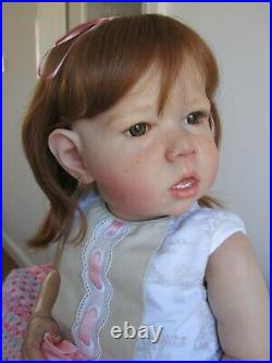 Reborn Toddler Doll Liam Bonnie Brown First Edition Numbered And Signed C. O. A