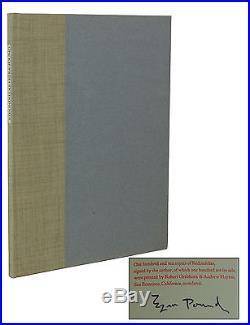 Redondillas EZRA POUND Signed Limited First Edition 1967