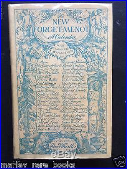 Rex Whistler SIGNED perfect DJ 1929 THE NEW FORGET-ME-NOT CALENDAR First Edition