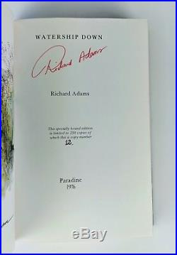 Richard Adams Watership Down First Edition Thus Limited Signed & Numbered