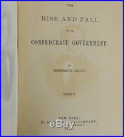 Rise & Fall of the Confederate Government JEFFERSON DAVIS SIGNED First Edition