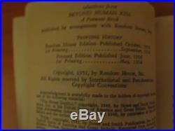 Robert Heinlein Signed First Edition Beyond Human Ken 1954