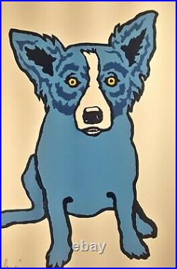 Rodrigue First Edition 1994 Blue Dog Silkscreen Print Signed 1425/1500 And Book