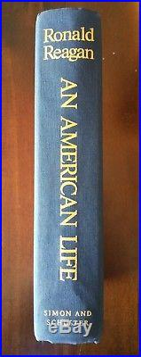 Ronald Reagan signed first edition An American Life COA
