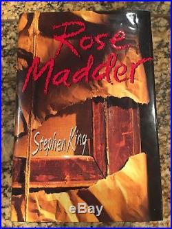 Rose Madder, Signed First Edition Stephen King 1995 HC/DJ Excellent condition