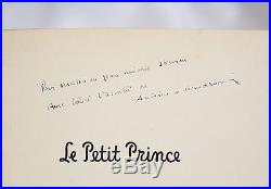 SAINT-EXUPERY Petit Prince Little Prince FIRST EDITION SIGNED & INSCRIBED 1943