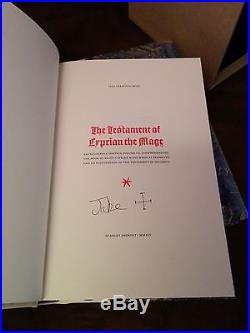 SCARLET IMPRINT Cyprian The Mage DLX Rare GRIMOIRE Occult SIGNED First Edition