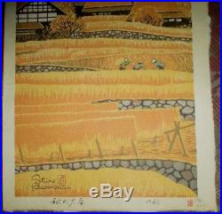 SHIRO KASAMATSU-Japanese Woodblock-Autumn At Ohara-FIRST EDITION 1963