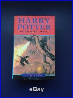 SIGNED 1st Edition Harry Potter and the Goblet of Fire hardback (2000)