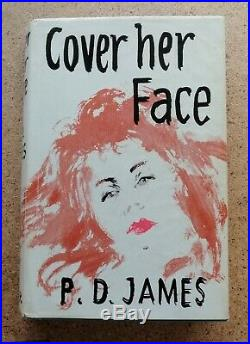 SIGNED 1st Edition P. D. James' Cover her Face', pub. 1962 Faber and Faber