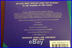 SIGNED 1st Edition Robert Sabuda BEETLES YOUNG NATURALIST POP-UP HANDBOOK NO. 1