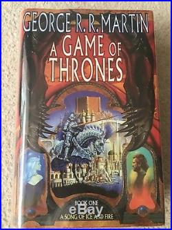SIGNED A Game Of Thrones 1st First Edition George R R Martin, Voyager 1996