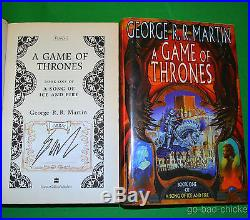 SIGNED A Game Of Thrones by George R. R. Martin U. K. 1st First Edition Book NICE