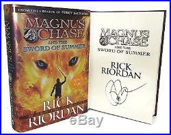 SIGNED BOOK Magnus Chase and the Sword of Summer by Rick Riordan First Edition
