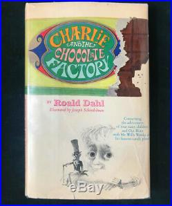 SIGNED Charlie Chocolate Factory FIRST EDITION book ROALD DAHL Willy Wonka