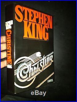 SIGNED Christine Stephen King Viking 1983 First Edition HCDJ