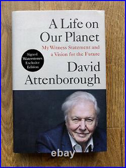 SIGNED David Attenborough A Life on Our Planet First Edition 1st Autograph