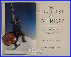 SIGNED EDMUND HILLARY, Conquest of Everest, 1954, First Edition