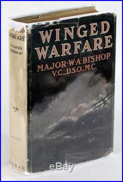 Signed First Edition 1918 Winged Warfare William Bishop VC Ww I Flying Ace Hc