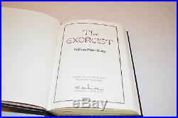 SIGNED FIRST EDITION Easton Press THE EXORCIST William Peter Blatty LEATHER MINT