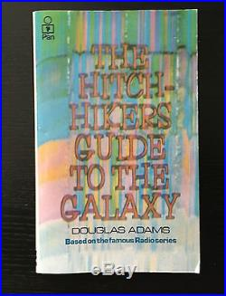 Signed First Edition Paperback Douglas Adams Hitch-hiker's Guide To The Galaxy