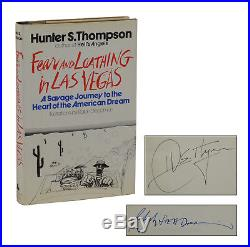 SIGNED Fear and Loathing in Las Vegas HUNTER S THOMPSON First Edition 1971 1st