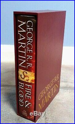 SIGNED Fire And Blood, First 1st Edition. George R R Martin. A Game Of Thrones