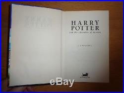 SIGNED First Edition Harry Potter And The Chamber Of Secrets J K Rowling
