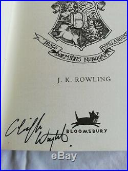 SIGNED First Edition Harry Potter and the Deathly Hallows HB with COA RARE