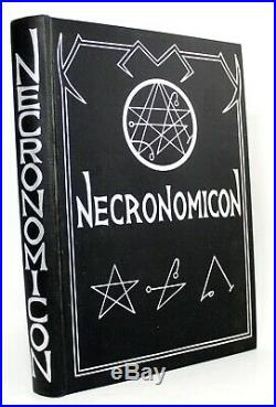 SIGNED First Edition NECRONOMICON Simon Vtg H P Lovecraft Aleister Crowley 1977