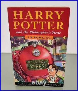 SIGNED Harry Potter And The Philosopher's Stone First Edition Book J K Rowling
