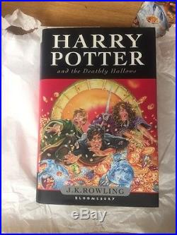 SIGNED Harry Potter and The Dealthy Hallows- First Edition- Brand New