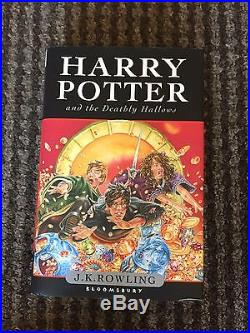 SIGNED Harry Potter and The Deathly Hallows First Edition Brand New