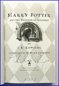 SIGNED Harry Potter and the Prisoner of Azkaban by J. K. Rowling FIRST EDITION