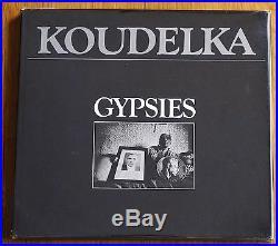 SIGNED JOSEF KOUDELKA GYPSIES 1975 1ST EDITION & PRINTING WithDUST JACKET
