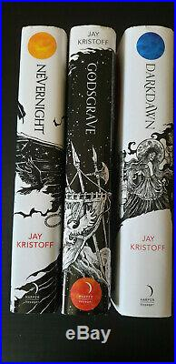 SIGNED Jay Kristoff COMPLETE NEVERNIGHT Trilogy ALL UK First Editions FINE