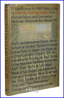 SIGNED Learning from Las Vegas ROBERT VENTURI & DENISE SCOTT BROWN First Edition