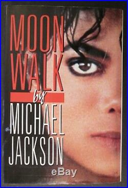 SIGNED MICHAEL JACKSON MOONWALK BOOK Stated First Edition HCDJ Autobiography