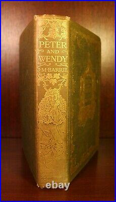 SIGNED Peter and Wendy 1911 First American Edition J. M. Barrie Peter Pan