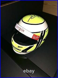 SIGNED RARE jenson Button 12 Brawn GB Formula 1 Racing Helmet First Edition