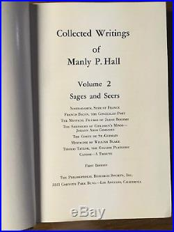 SIGNED SET Collected Writings of Manly P. Hall VOL. 1 2 & 3 First Edition Palmer