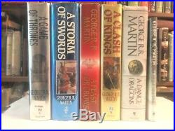 SIGNED SET OF SIX GAME OF THRONES FIRST EDITION GEORGE R. R. MARTIN all 1sts