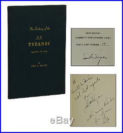 SIGNED Sinking of the S. S. Titanic JOHN B. THAYER First Edition 1st 1940 Limited