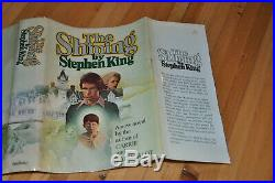SIGNED W. Shine On NEAR FINE 1ST/1ST EDITIONTHE SHININGSTEPHEN KING, Letter