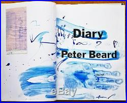 SIGNED With LARGE BLUE HANDPRINT PETER BEARD DIARY 1ST EDITION WithJACKET NICE