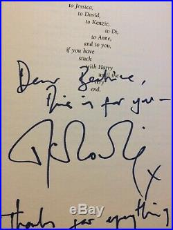 SIGNED and messaged Harry Potter and The Deadly Hallows. Rare. First Edition