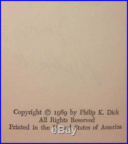 SIGNED autographed Philip K Dick UBIK First Book Club Edition 1969